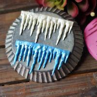 Mold Frozen Icicle Fondant Silicone Mould IcingCake Decor Sugarcraft Baking Mold