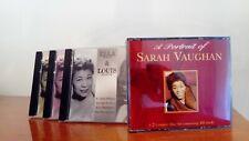 5 cd musica jazz Ella Fitzgerald & Louis Armstrong + Sarah Vaughan come nuovi
