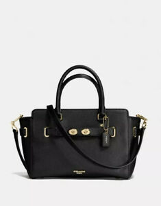 BNT By COACH BLAKE CARRYALL 25 IN BUBBLE LEATHER Black RRP1195