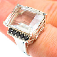 Large White Quartz 925 Sterling Silver Ring Size 7.25 Ana Co Jewelry R52538F