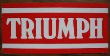 TRIUMPH Vinyl Sticker Decal rectangle 10 x 5 cm / circle diameter 10 cm NOS
