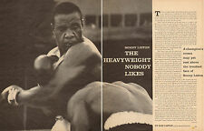 1962 vintage sport article SONNY LISTON Heavyeight Boxer Nobody Likes !  041017