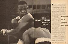 1962 vintage sport article SONNY LISTON Heavyeight Boxer Nobody Likes !  041017