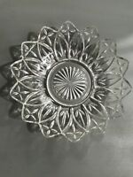 """round clear glass candy dish 8"""""""