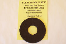 "CARBONTEX CARBON ""UPGRADE"" DRAG WASHERS SET FOR SHIMANO TLD 15 REELS/SMOOTH DRAG"