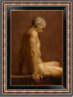 "Hand-painted Original Oil painting art Portrait male nude boy on Canvas 24""X36"""