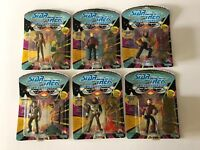 NEW Lot of 6 STAR TREK The Next Generation Action Figures Playmates