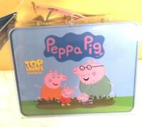 Peppa Pig Top Trumps Activity Tin card game Toy Lunch Box NEW Gift Christmas