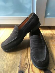 Very Cool classic J.M. WESTON Iconic legend moccasin 180 brown suede UK 8 D