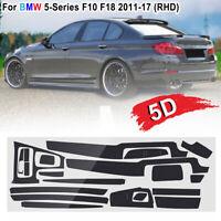 For BMW 5-Series F10 F18 2011-2017 5D Glossy Carbon Fiber Sticker Vinyl  !!