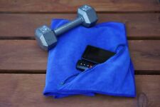 Microfiber Premium Sports/Fitness/Gym Towel With Zipper Pocket. Face towel