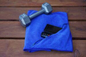 Microfiber Premium Sports/Fitness/Gym Towel With Zipper Pocket. Face towel