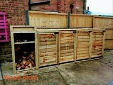 More details for weather resistant modular wheelie bin store with extra deep & wood store option