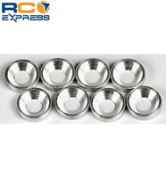 Hot Racing Silver Aluminum 3mm Countersunk Washer (8) CW36808