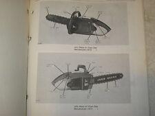 Original John Deere 61, 81, 81E, & 91 Chainsaw Parts Catalog Manual
