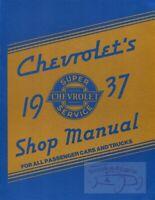 CHEVROLET 1937 SHOP MANUAL SERVICE REPAIR BOOK CAR TRUCK MASTER