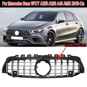 For Mercedes A Class W177 Grille Panamericana AMG A45 Look W177 Grill June 2018+