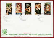 Cook Islands 1972 Christmas, ART, painting, set on FDC, SG 406-410, Sc 330-334