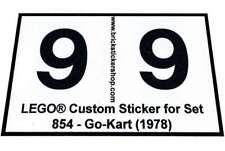 Replica Pre-Cut Sticker for LEGO®Expert Builder set 854 - Go-Kart (1978)
