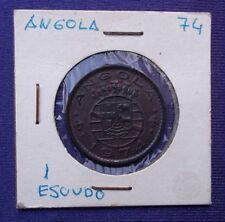 MONEDAS DEL MUNDO Angola 1974 1 Escudo