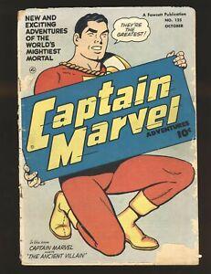 Captain Marvel Adventures # 125 Fair Cond. cover detached at top staple