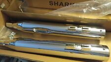"4"" CHROME W HI OUTPUT TIPS Slip On Exhaust Pipes Harley TOURING EVO T/C 95-2016"