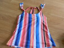 TU Size 14 Multi Stripe Tankini Top New With Label. Padded. No Wires.
