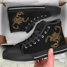 Scorpio Zodiac Men's High Top Shoes - US Size HQ - Scorpion Custom Canvas Shoes