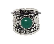 Adjustable Jade Ring Boho ring Nepal ring Tibetan ring Tibet Ring RB78