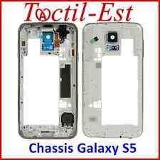 Chassis Bezel pour Samsung Galaxy S5 G900 - G900F Blanc avec Lentille Cache USB