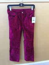 Free People Velvet cropped flare jeans pink!! 27