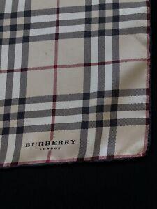 Burberry London Silk Scarf Men's Silk Pocket Square Silk 100% 47x47