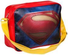 Superman Boys Kids Deluxe Courier Messenger School Uni Shoulder Bag NEW