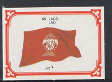 Monty Gum 1980 Flags Cards - Card No 68 - Laos (T662)