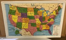 Brand New Nystrom Raised Relief Bright Colors Map of the United States