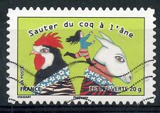 TIMBRE FRANCE AUTOADHESIF OBLITERE N° 796 / SOURIRES / SAUTER DU COQ A L'ANE