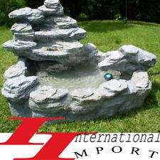 CASCADE FONTAINE de JARDIN pompe étang décoration NEUF!rocher eau lumière lampe