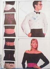 Mens Womens Cummerbunds Belts Sewing Pattern Multi Size Small to Large McCalls
