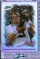 NEW ORLEANS SAINTS WIN SUPER BOWL 2010 eTopps Commemorative eVent Card IN HAND