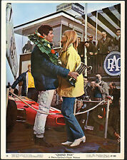GRAND PRIX AUTO RACING original 1967 lobby photo ANTONIO SABATO/FRANCOISE HARDY