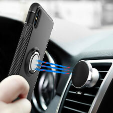 Fashion Magnetic Plate Stand Hybrid Sports Cover Case Black for Apple iPhone X