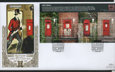 GB 2009 Benhams Gold FDC Post Boxes MINISHEET Wakefield pmk stamps