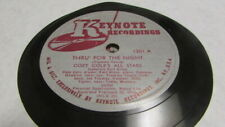 COZY COLE KEYTONE 78 RPM RECORD 1301 THRU' FOR THE NIGHT