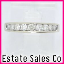 Anniversary Stackable Band Ring .48ct 14k White Gold Round Diamond Wedding