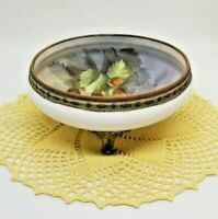Antique Nippon Hand Painted Footed Bowl Raised Nuts Morimura Bros C.1911-1921