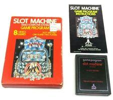 Slot Machine (Atari 2600, 1978) By Atari (Box, Cartridge & Manual) NTSC