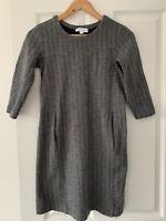 The White Company White Label Herringbone Tweed Stretch Dress Pockets Size UK 8