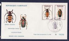 Aa/ Gabon    enveloppe    insectes coléoptères  1978