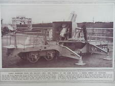 1914 FRENCH MOBILE 7.87 HOWITZER; PACKED GERMAN TROOP TRAIN EAST PRUSSIA WWI WW1