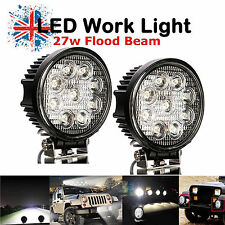2X 27W 12V 24V LED Work Light Flood Lamp Tractor Truck SUV ATV Offroad UK SHIP